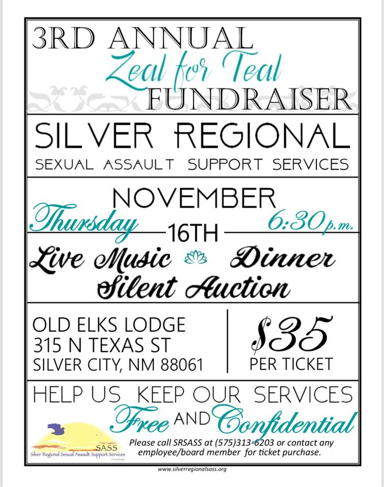3rd Annual Zeal for Teal Founraiser